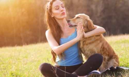 Doing doga with your pup provides an opportunity to bond with each other.