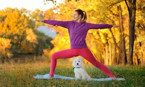 Doga is a great form of exercise and bonding with you and your pup.