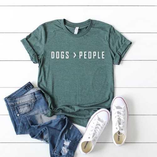 Dogs > People Tee