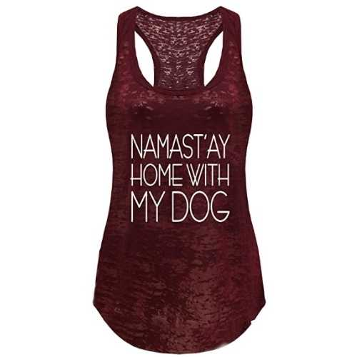 Namastay Home With My Dog Tank Top