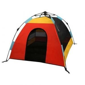 P.L.A.Y. Pet Lifestyle and You Outdoor Dog Tent Sunrise - camping with your dog