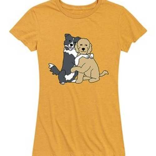 What better shirt is there than two dogs cuddling?