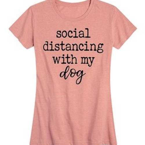 Social distancing with my dog shirt