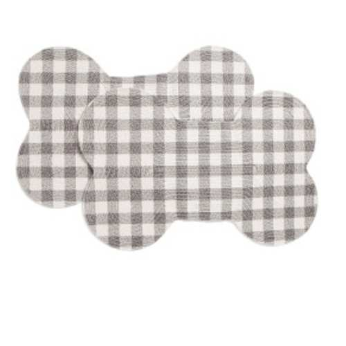 MADISON INDUSTRIES Set Of 2 Bone Braided Placemats