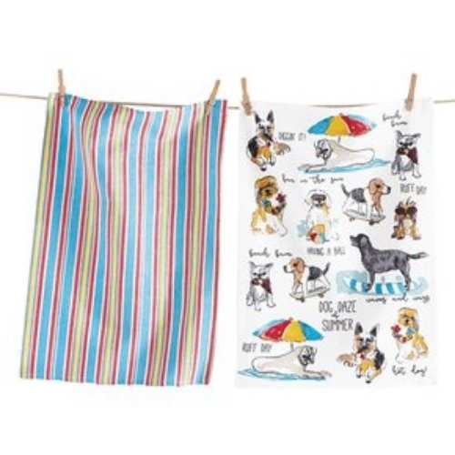 Dog Days of Summer Dog Dish Towel