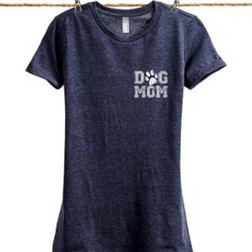 Dog mom t-shirt with a sunflower across the front makes the perfect dog mom gift