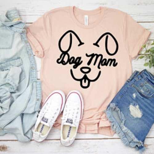Dog Mom Face Shirt