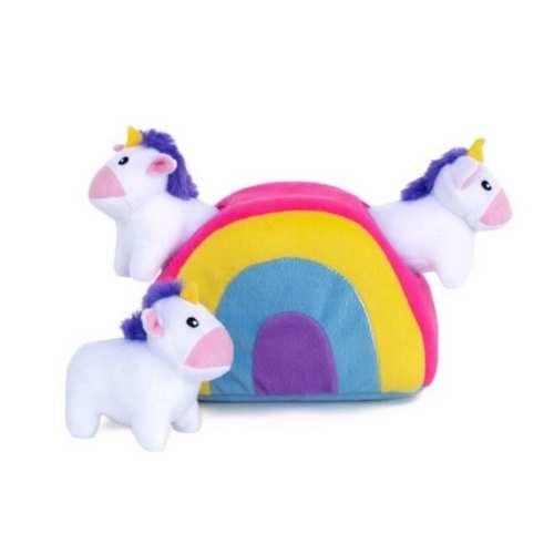 ZippyPaws Zippy Burrow Unicorns Rainbow Puzzle Dog Toy