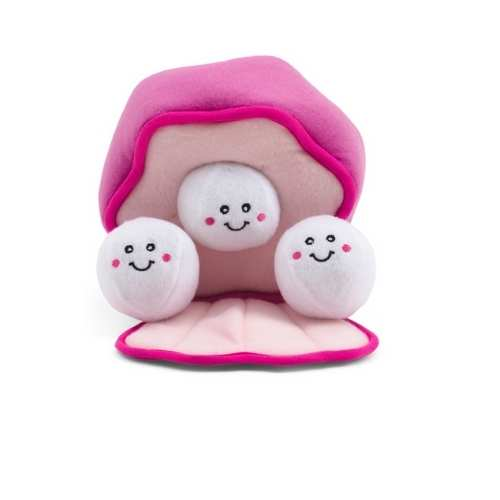 ZIPPYPAWS Pearls In Oyster Burrow Pet Toy