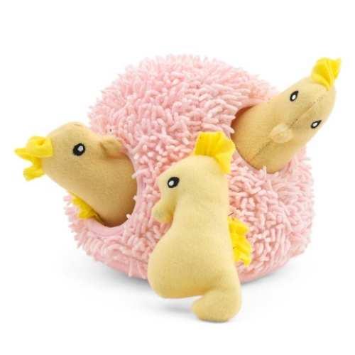 ZIPPYPAWS Seahorse N Coral Burrow Pet Toy