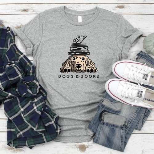Dogs & Books T-Shirt