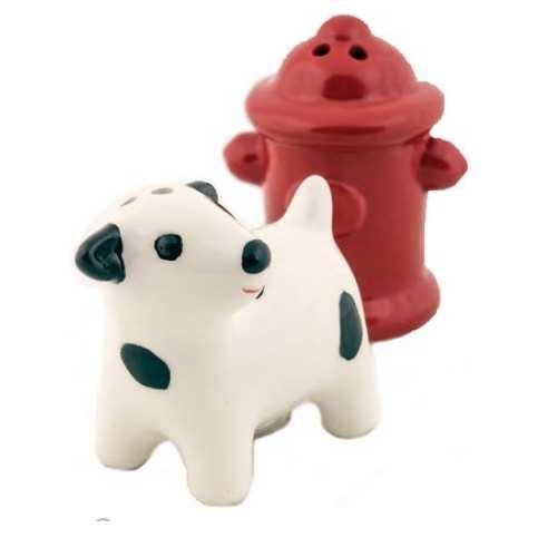 Design Imports Dog & Hydrant Salt & Pepper Shakers