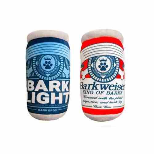 Barklight Barkweiser Two Pack Plush Squeaky Dog Toys