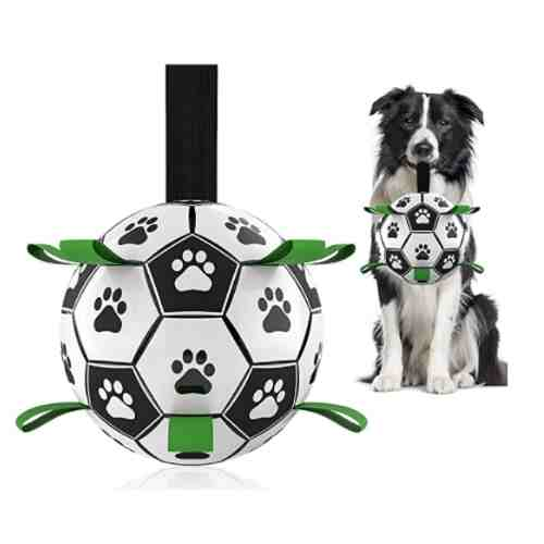 Interactive Dog Toys for Tug of WarSoccer Ball with Grab Tabs