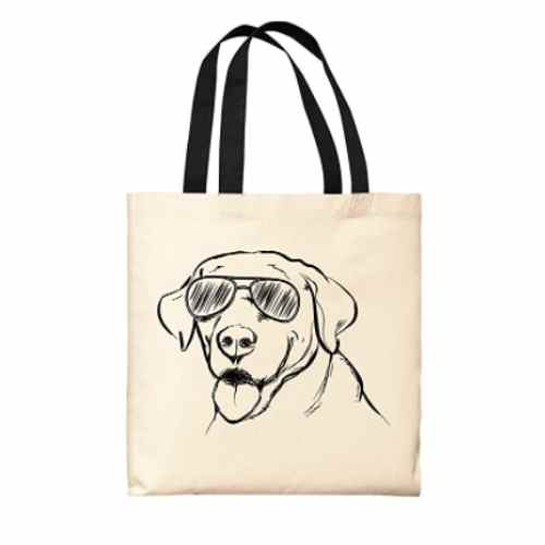Dog Tote Bags Sunglasses Labrador Bag Dog Lover Gift Dog Owner Gift Dog Accessories Canvas Tote Bag