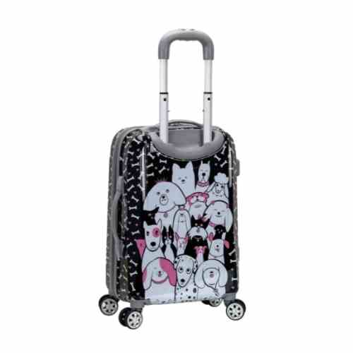 Rockland Vision Hardside Spinner Wheel Luggage, Dogs, Carry-On 20-Inch