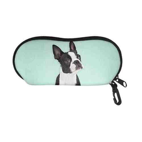 TOADDMOS Stylish Design Solft Portable Travel Zipper Eyeglasses Case Glasses Case for Sunglass Reading Glasses