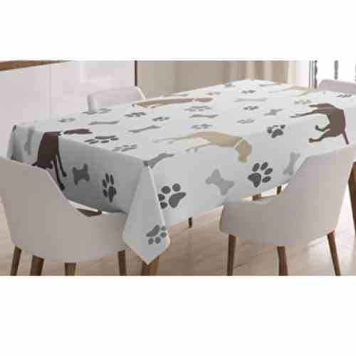 Dog Lover Tablecloth For Kitchen