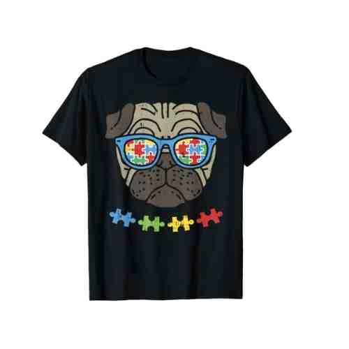 Autism Awareness Pug Shirt