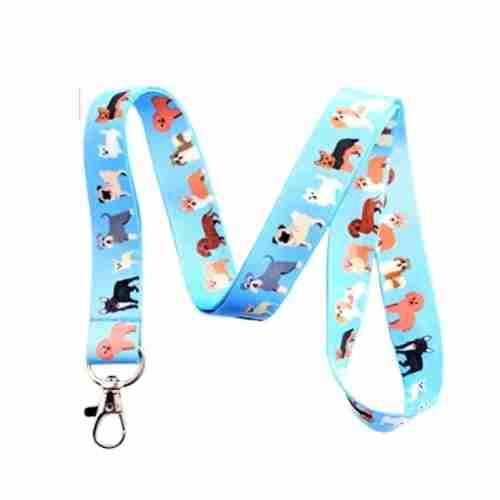 Dog Parade Lanyard Key Chain Id Badge Holder