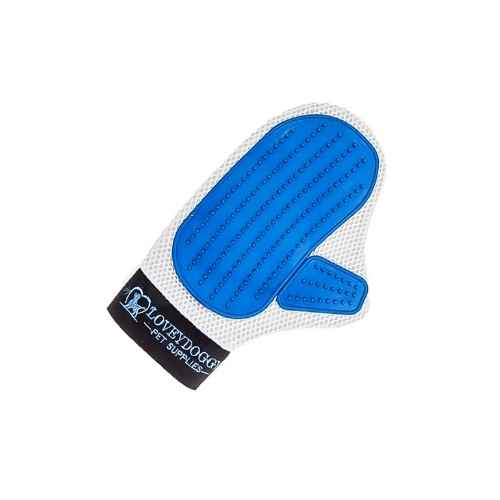 Pet Grooming Deshedding Brush Glove by Lovey Doggy