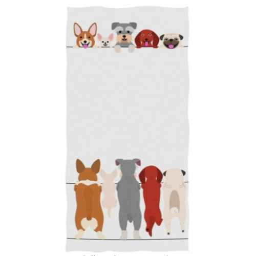 Standing Small Dogs Hand Towels