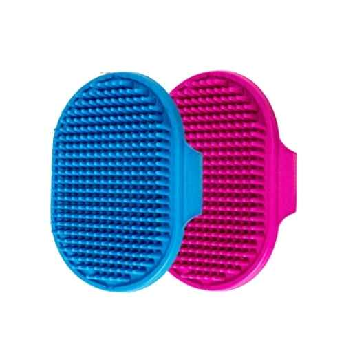 Aoche Pet Bath Brush Soothing Massage Rubber Comb 2pcs