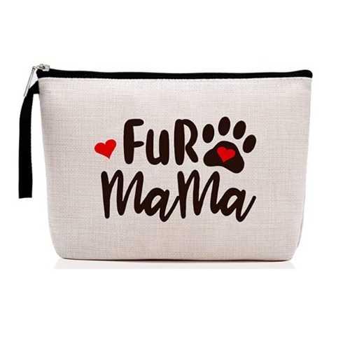 Dog Mom Gifts - Fur Mama Makeup Bag