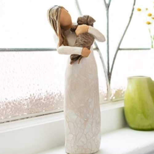 Willow Tree Adorable You (Dark Dog), Sculpted Hand-Painted Figure