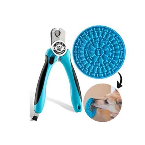 Zax's Favourites Dog Nail Clippers Set with Bonus Calming Anti-Anxiety Lick Pad