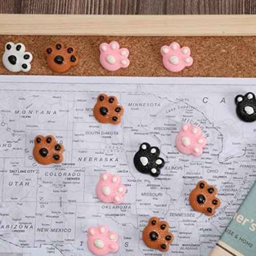 Dog Paw Push Pins For Office