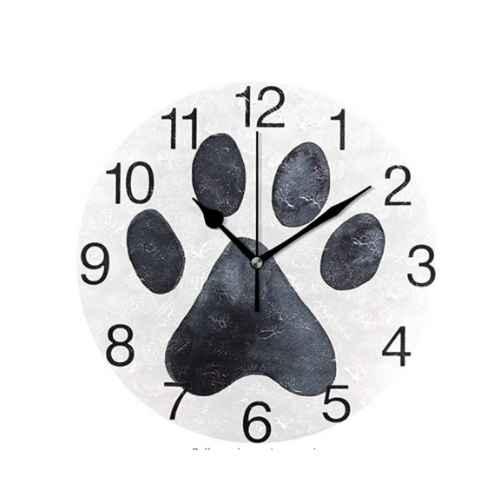 Dog Paw Hanging Clock