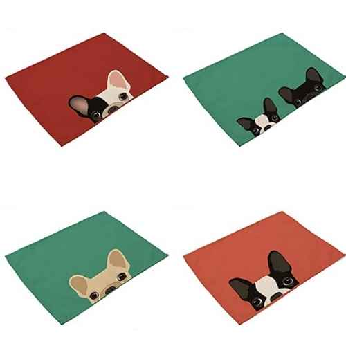 Dog themed place mats to decorate your kitchen.