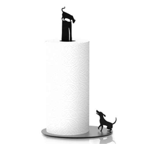 Towel holder for paper towels in the kitchen