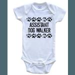 Assistant Dog Walker Baby Onesie