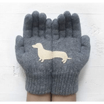 Dachshund Wool Gloves