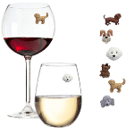 Magnetic Dog Wine Charms